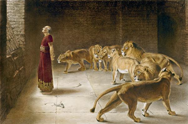 Đa-ni-ên trong hang sư tử 1 cách an toàn