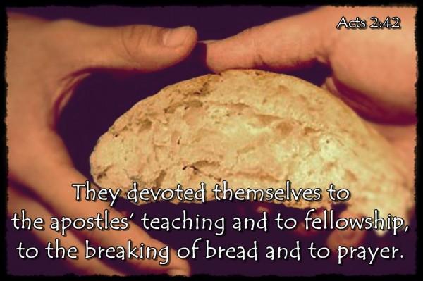 Lể bẻ bánh Công vụ các sứ đồ 2:42